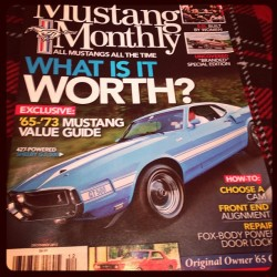 Aww yeah. My Dad made the cover.  #family #proud #mustang #ford