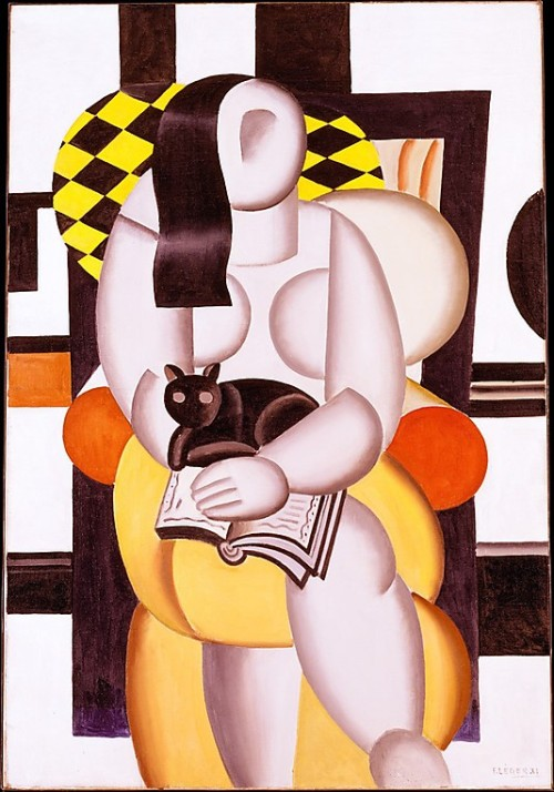 fyeshistoryofart:  Woman with a CatFernand Léger1921Oil on canvas