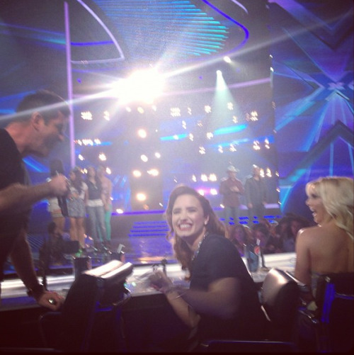 Simon, Demi and Britney tonight at X Factor!