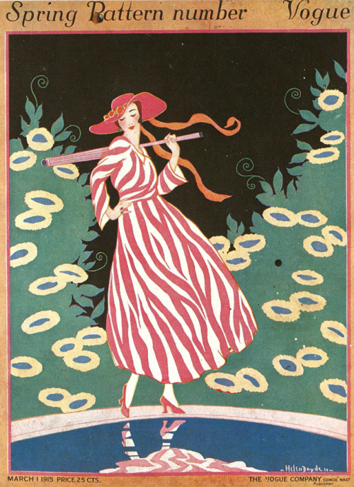 tender-isthe-night:  Vogue, March 1915, Helen Dryden.  Love it