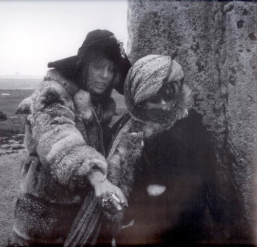 slampigs:  Anita Pallenberg and Marianne Faithfull at Stonehenge in 1968