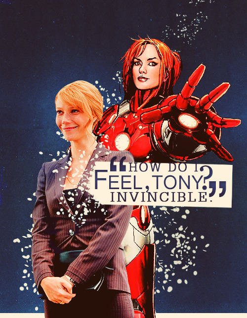 Fangirl Challenge | [10] female characters/[5] heroes | 3/10|5 Pepper Potts/Rescue