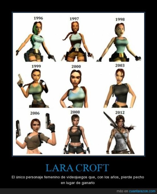 the only female character in video games over the years, lost chest instead of earning it.