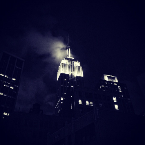 The Empire State Building from Ace Hotel New York's front