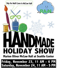 So excited to participate in the show! Etsy Seattle Handmade Holiday Show November 23 & 24 McCaw Hall, Seattle Center