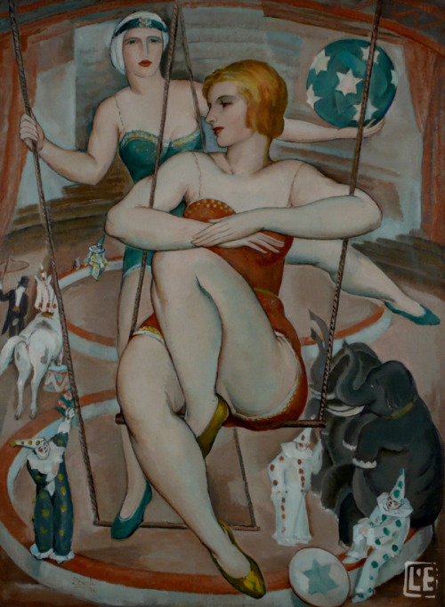 mudwerks:  (via Large Size Paintings: William Johnson L'ENGLE Trapeze Artist 1926)