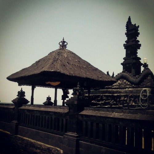 at Tanah Lot Beach