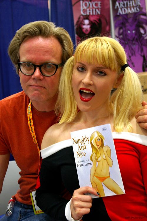 Naughty & Nice. Comic-Con. San Diego. 2012. The Art of Bruce Timm (theguyontheleft!) Booth.