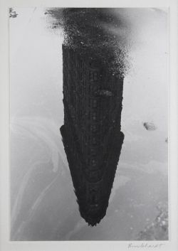 yama-bato:   RUDY BURCKHARDT - Flatiron Building Reflection. Courtesy DOYLE New York