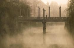 bluepueblo:  Foggy Bridge, St. Petersburg, Russia photo via pixdaus