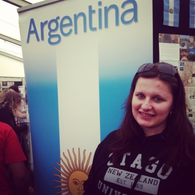 then I found an Argentina stand, I spoke with a girl for a while and told her about my travel plans :) I'm getting so excited!