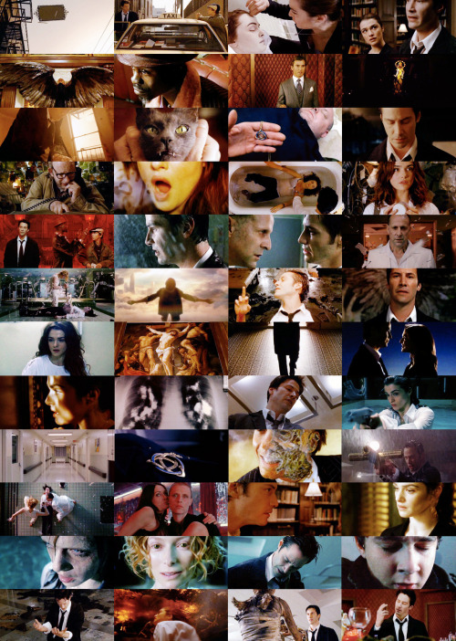 "most memorable movies → constantine (2005) ""Angels and Demons can't cross over onto our plane. So, instead we get what I call half-breeds. The influence peddlers. They can only whisper in our ears. But a single word can give you courage, or turn your favorite pleasure into your worst nightmare. Those with the demon's touch like those part angel, living alongside us. They call it the balance. I call it hypocritical bullshit."""