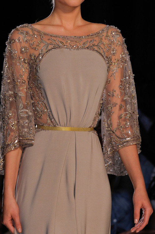 girlannachronism:  Elie Saab fall 2012 couture details