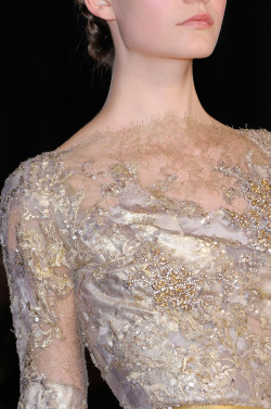 suchaprettyworld:  Elie Saab Haute Couture Autumn/Winter 2012 details.