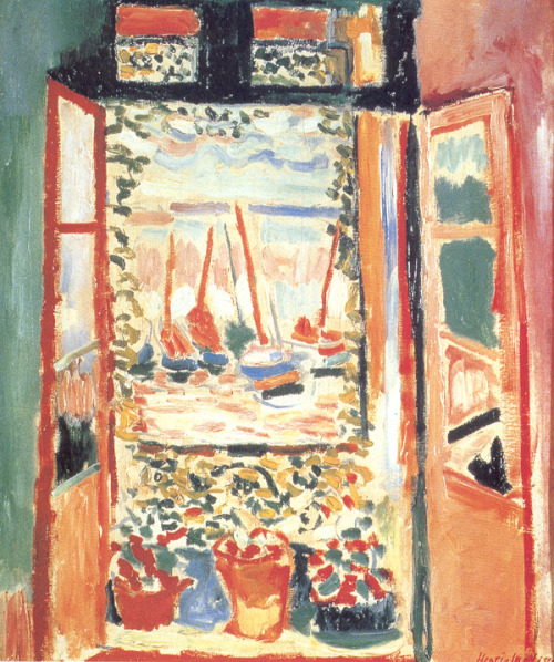 hunterofimages:  (via Open Window at Collioure, Henri Matisse) Through a  window