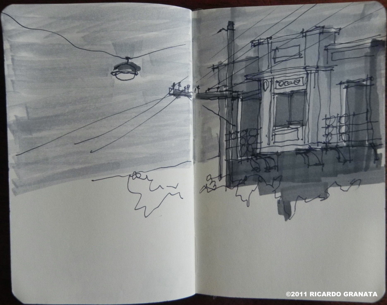 """MOOCA, SAO PAULO, BRAZIL"" EVERYTHING I DRAW EVERY DAY:  http://dailysketchesblog.tumblr.com/ http://www.facebook.com/pages/Daily-Sketches/352568288166398 http://pinterest.com/ricgranata/daily-sketches/"