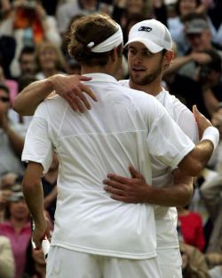 inclore:  1/50 pictures of Andy Roddick & Roger Federer When we were young and unafraid, and dreams were made and used and wasted  <333