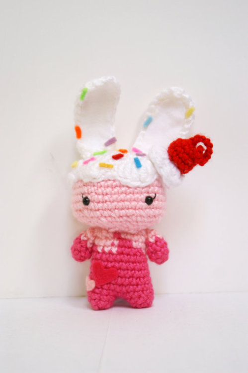 sckawaii:  Crochet Ice Cream Bunny Amigurumi Toy by MillieCrochetHouse