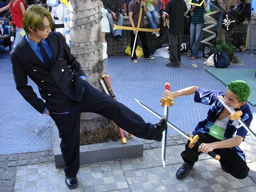 SANJI AND ZORO Anime: One Piece
