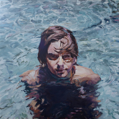 Water by Martin-Jan van Santen on Flickr.water is damn difficult! 60x60 cm oil on panel, painting by Martin-Jan van Santen, an artist from Holland.