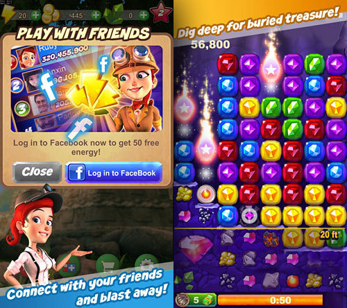 Ruby Blast from Zynga  Ruby Blast transition to mobile was accelerated via Adobe AIR and Starling Framework. The development team was able to use the same workflow for both the web and mobile versions of the game, meaning it didn't have to be rebuilt for the web. Meanwhile, the Zynga Beijing team tested the game's performance and then worked with a group from Zynga's headquarters in San Francisco to optimize it with Project Monocle (Adobe's new profiling tool for Flash and AIR developers).  Sources: Ruby Blast from Zynga goes mobile – Powered by AIR and Starling Zynga Leverages Adobe AIR to Take Ruby Blast Multi-Platform Ruby Blast hits mobile platforms, with a little help from Adobe AppStore
