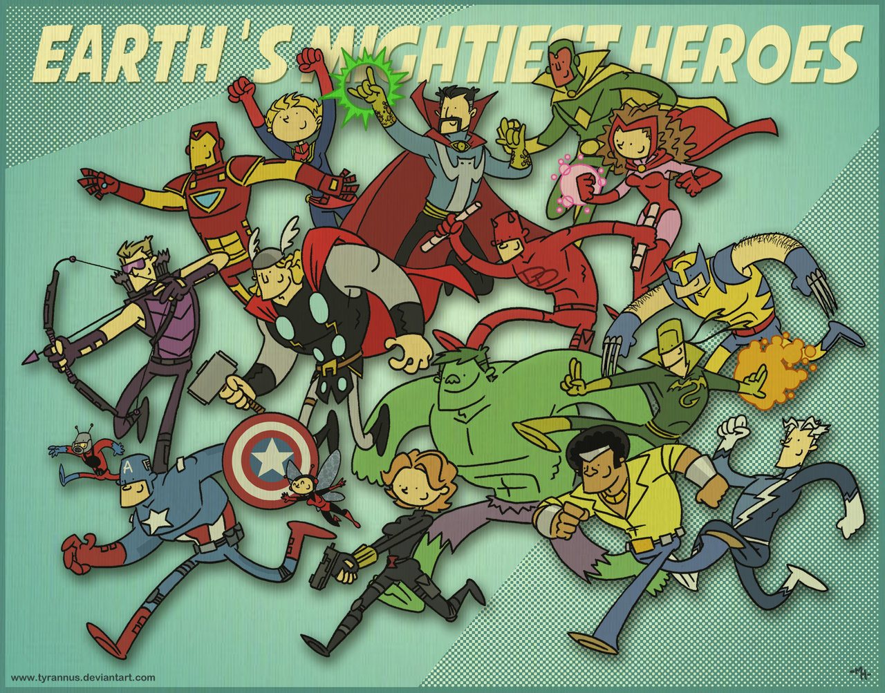 lulubonanza:  Earth's Mightiest Heroes by *tyrannus