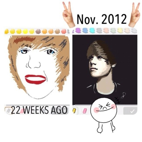 BLAST FROM THE PAST! Justin Bieber #teamdli #drawsomething #drawsomethingdesigns #drawsomethingfeature #drawsomethingepic #fyoupicasso #awesomedrawsome #artmazing #justinbieber #portrait #handdrawnart #satanoncrack #beproud #arts #digitaldrawing #bestofdrawsomething #drawsomethingcool