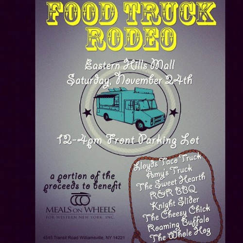lovethosecakes:  #foodtruckrodeo #buffalo #newyork #easternhillsmall #foodtruck  FOOD TRUCK RODEO!