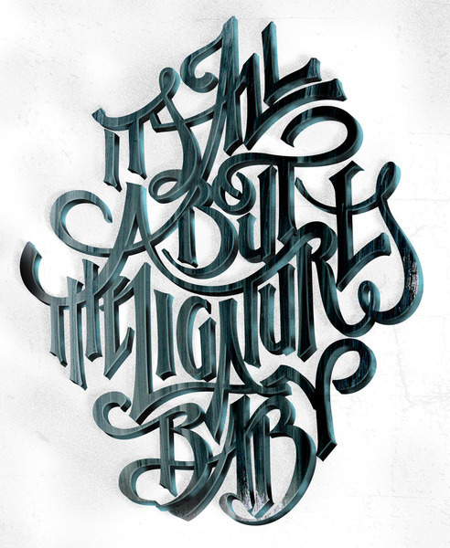 "typeverything:  It's all about the ligatures baby!"" by @AndreiRobu."