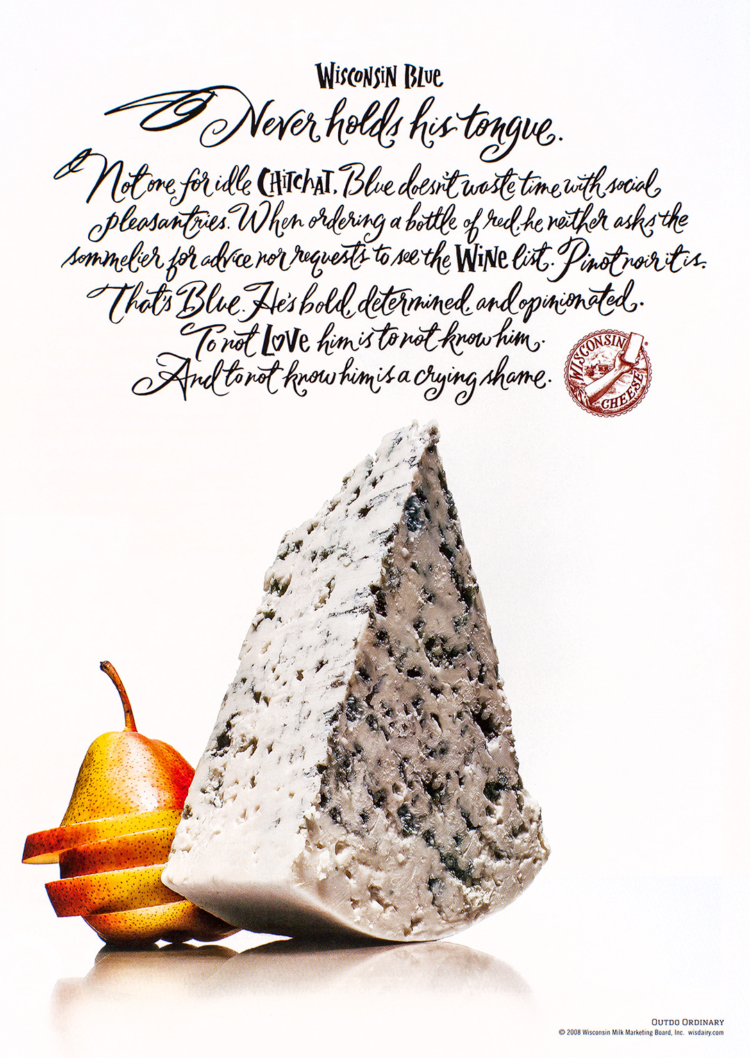 Wisconsin Cheese Advertisement - Gourmet: November 2008
