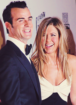 Jennifer Aniston, Justin Theroux at Cinematheque Awards Honoring Ben Stiller.