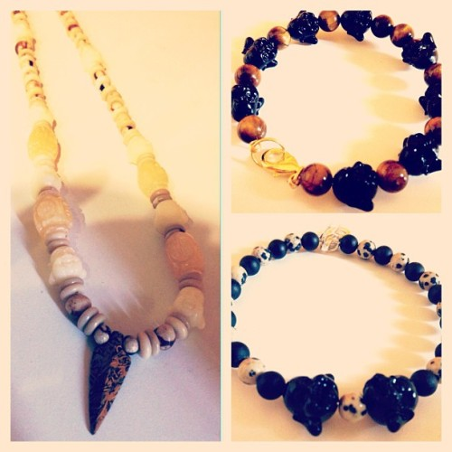 wolfjuice:  #budha #jewelry #preview just a few pieces that will be available during our Pre-Opening #BlackFriday WolfJuice.com #wolfjuice #boutique #beads #dope #fashion #handmade #streetwear #streetfashion #instadope  (at Wolf Juice Boutique)  Wolfjuice.com beaded jewelry #swag #dope #puremadness