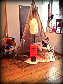 Tee pee in Warm NYC store.