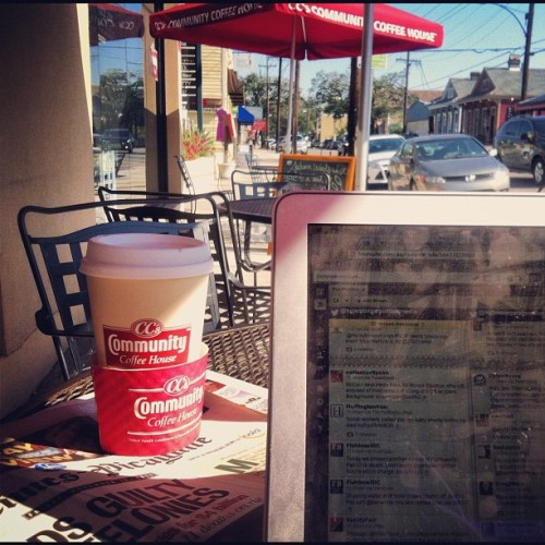 "The view from my NOLA ""office"" this morning.  (at CC's Community Coffee House)"