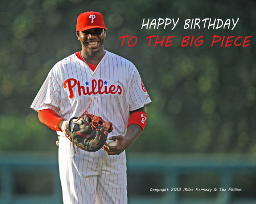 #TheBigPiece gets BIG birthday wishes from the Phillies!