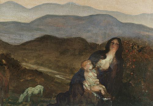 Madonna of the Hills, by Arthur Bowen Davies