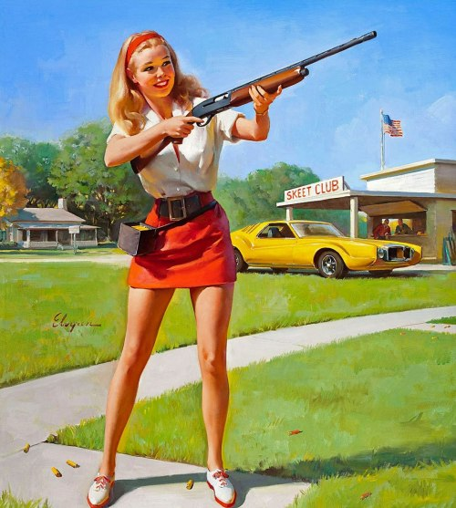 gunsandposes:  SKEET CLUB!