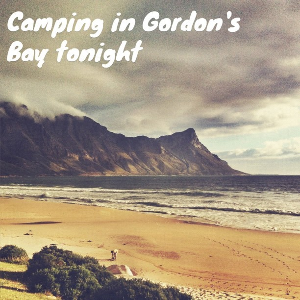 #camping in Gordon's bay! #Capetown #madewithOver @madewithOver (at Gordon's Bay Beach)