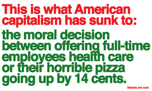 Capitalism will grind you down to nothing. Workers unite! #papajohns