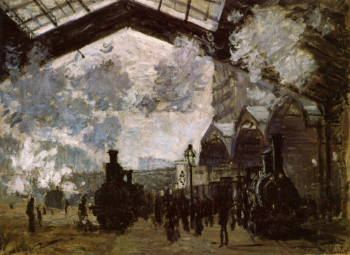 fuckyeahimpressionism:  Claude Monet - Saint Lazare Station (1877)
