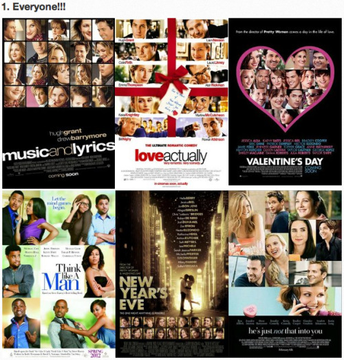 The 5 Types of Romantic Comedy Movie Posters [Click to view all] Nobody likes being left out.