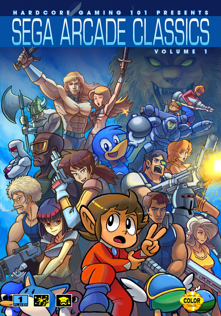 "tinycartridge:  Cover for HG101 Presents Sega Arcade Classics Vol. 1 by Jonathan ""Persona"" Kim. The 166-page fanbook will be available for purchase starting next month here. Buy: Sega game collections See also: More Sega stuff [Via @personasama]  Hell yes! Totally getting this!"
