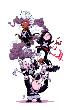 Uncanny X-Force #1 Baby Variant by Skottie Young
