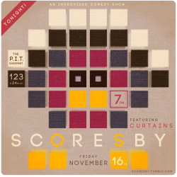 Back to work on Scoresby posters for our pre-Thanksgiving show.