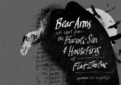 November Tour. Day Four. Glasgow. Bear Arms' single launch. These lads have hooked us up nicely, check them out. Details.
