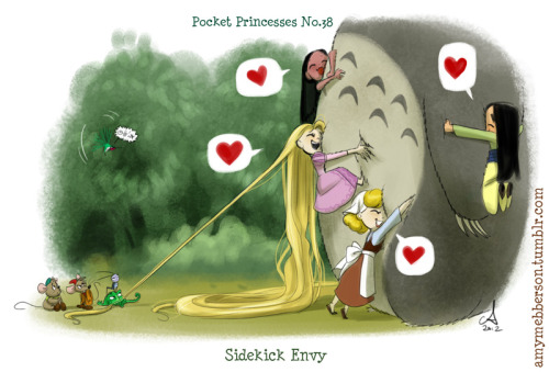 amymebberson:  Pocket Princesses 38  ADORABLE. As always.