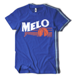 Enjoy Melo - Carmelo Anthony, New York Knicks $20-25 They call him Melo Anthony, Quite rightly. They call him Melo Anthony, Quite rightly. They call him Melo Anthony. Born to forever to fly high. Win, a nightly thrill. Born to forever to fly high. If you want your ring, I will fill. Available Colors:       Royal Blue,  Sky Blue, Heather Blue Available Styles:       Men - Fruit of the Loom Classic, American Apparel, Organic Heather      Women - American Apparel Slim Fit, Heather Jersey (Click here or on the picture to purchase.)