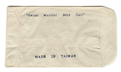 swiss warbler made in taiwan. from my collection http://kindraishere.blogspot.com