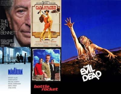 Make this weekend a streamin' weekend. Some cool, new and classic movies to stream include: Casa de mi Padre, Manhattan, Bottle Rocket, The Zen of Bennett, and The Evil Dead.