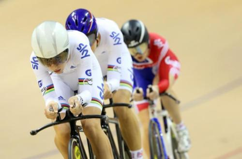 UCI Track World Cup II 2012 - Glasgow - Day 1: Laura Trott Leads Her British Team Mates In The Qualifying Round of the 3,000m Team Pursuit , Photos | Cyclingnews.com More photos of day 1 on Cyclingnews